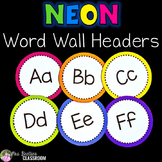 Word Wall Letters - NEON Decor