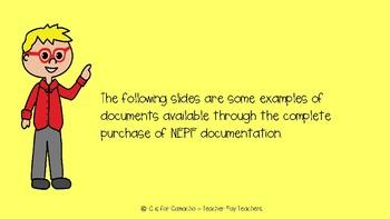 NEPF--FREE example documents