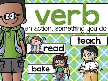 NERD ALERT FREEBIE! Nouns and Verbs posters