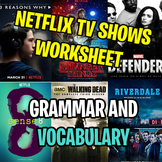 NETFLIX TV SHOWS WORKSHEET - Tenses, Vocabulary and Reading Comprehension