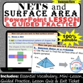 NETS AND SURFACE AREA Digital PowerPoint Lesson & Practice