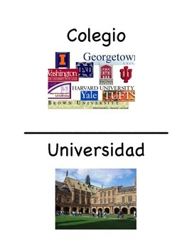NEU College Vocabulary Cards- SPANISH