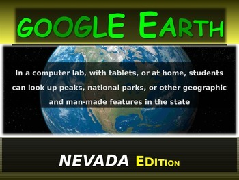 """""""NEVADA"""" GOOGLE EARTH Engaging Geography Assignment (PPT &"""