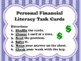 NEW  1st grade Personal Financial Literacy Task Cards (ali