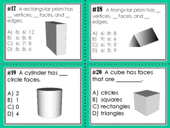 NEW  2- & 3-D Geometry Activity Pack - Task Cards & Intervention TEKS & CC