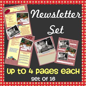 NEW 2014 Newsletter Set - NEW FORMAT - 1 to 4 Pages Each - WORD