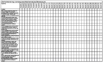 NEW 2016 Ont.K Curr. Checklist-Demonstrating Lit. & Math Behaviours-32 students