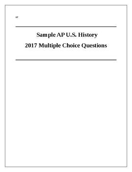 2017 AP US History Practice Exam 1