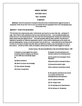 NEW 2018 AP World History 2 Full Practice Exams  (with Answers)