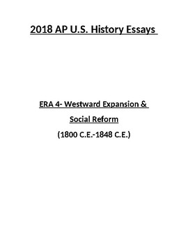 NEW 2018 AP US History Era 4 Essays (with answers)