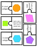 NEW 2D and 3D Shapes Matching Vocabulary Games 4 Versions! Grades 1-5
