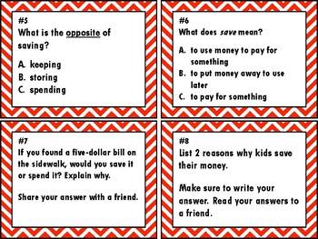 NEW  2nd Grade Personal Financial Literacy Bundle (TEKS 2.11A-F) SAVE $5!