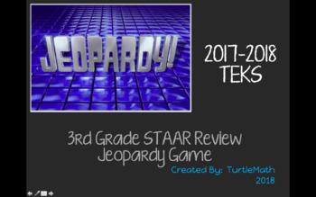 NEW - 3rd Grade Math Jeopardy STAAR Review 2017-2018
