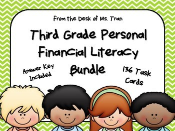 NEW 3rd Grade Personal Financial Literacy Bundle (TEKS 3.9