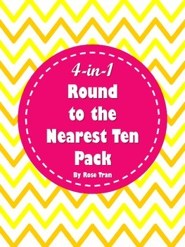 NEW  4-in-1 Round to the Nearest Ten Pack (aligned to TEKS