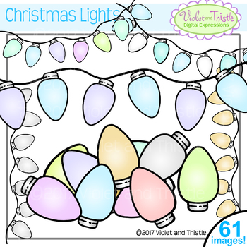 Christmas Lights Clipart Frosty Ice Pastel Colors Clipart Clip Art