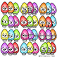 Christmas Light Fun Faces Traditional Christmas Colors Lights Clipart Clip Art