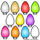 Christmas Lights in Traditional Christmas Colors Lights Clipart Clip Art