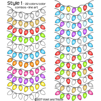 Christmas Lights Clipart Traditional Christmas Colors Lights Clipart Clip Art