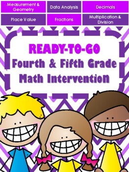New 4th 5th Gr Math Intervention Bundle Over 180 Days Of Lessons