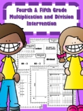 NEW  4th & 5th Grade Multiplication and Division Intervent