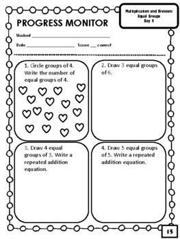 NEW  4th & 5th Grade Multiplication and Division Intervention OVER 80 PAGES!