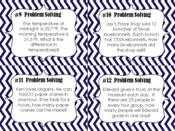 NEW  4th & 5th Math Word Problems Pack (TEKS 4.5A,5.4B, CC 4.OA.A.1, 4.OA.A.3)