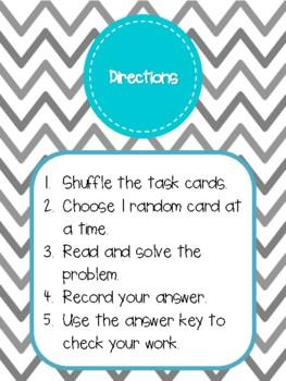 NEW  4th-5th Word Problems & Teacher ?s Cards (4.5A,5.4B,4.OA.A.1,4.OA.A.3)