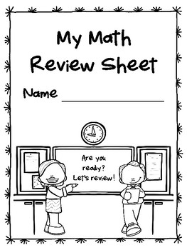 NEW  4th Grade Math STAAR Review Sheet (TX teachers)