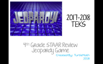 NEW -  4th Grade STAAR Jeopardy Game 2017-2018