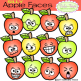 Apple Faces Apples Emotions Emoticons Expression Clipart Clip Art
