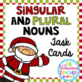 Christmas Singular and Plural Nouns Task Cards