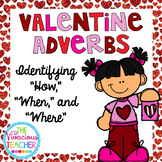 Valentine Adverbs Task Cards Scoot Activity