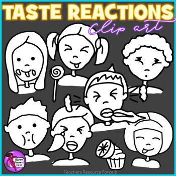 Taste reactions clip art