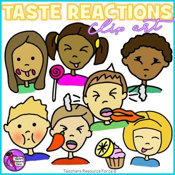 Taste reactions clip art