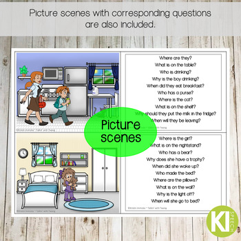 Wh- Questions Leveled Practice with Boom Cards for Distance Learning