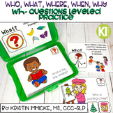 Wh- Questions Leveled Practice with Boom Cards
