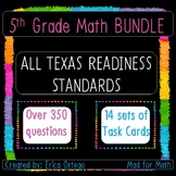 NEW! 5th Grade Math Readiness Standards Task Cards BUNDLE!