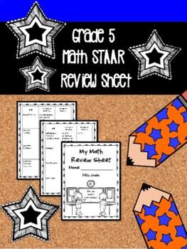 NEW 5th Grade Math STAAR Review Sheet (TX teachers) | TpT