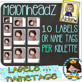 NEW-- 64 Picture Frame Melonheadz Kidlette NAME TAG / LABELS