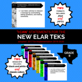 """NEW 8th Grade ELAR TEKS """"I Can"""" Statements for 2019-2020"""