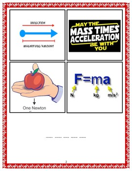 NEW 8th Grade STAAR Review game Physics ~ 4pic one word Voc review game