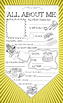 ALL ABOUT ME! Amazing Coloring Pennant Legal Size Printable!