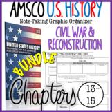 NEW! AMSCO U.S. History Graphic Organizer Chapter 13, 14, 15 (Civil War Era)
