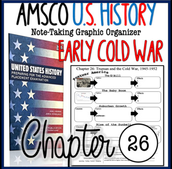 NEW! AMSCO U.S. History Graphic Organizer Chapter 26 (Truman & the Cold War)