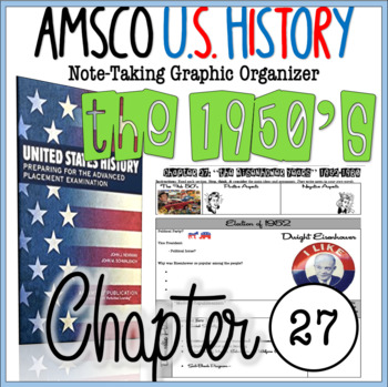 NEW AMSCO U S History Graphic Organizer Chapter 27 Eisenhower The 1950 S