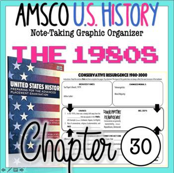 AMSCO U.S. History Graphic Organizer Chapter 30 (Conservative Resurgence)