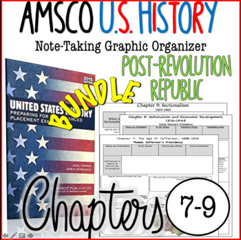 AMSCO U S  History Graphic Organizer Chapter 7, 8, & 9 (Post-Rev  Republic)