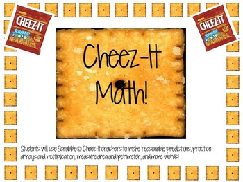 NEW AND IMPROVED: Scrabble Cheez-It Math-Arrays, Area, Perimeter & Making Words