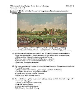 NEW AP European History Period 2 MC Exam with Excerpts and Answer Key
